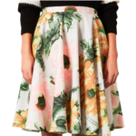jupe plis fleurie