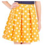 jupe plis jaune
