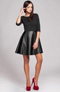 robe-bi-matiere-jupe-patineuse-noire